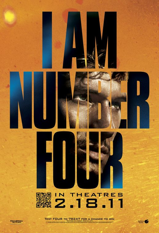 Win I Am Number Four Advanced Screening Tickets | Novel Novice I Am Number Four Movie Poster