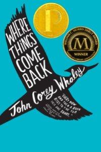 where things come back paperback printz morris