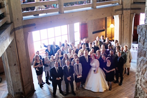 Everyone (well, most everyone) at the wedding!