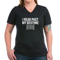 read_past_my_bedtime_womens_vneck_dark_tshirt